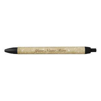 Bolígrafo De Tinta Negra Falso brillo del oro