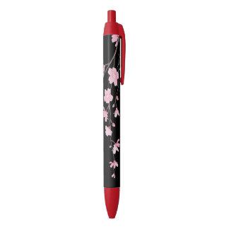 Bolígrafo De Tinta Negra Flor de cerezo - negro