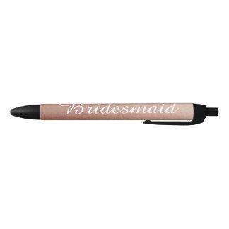 Bolígrafo De Tinta Negra Foto color de rosa personalizada del oro