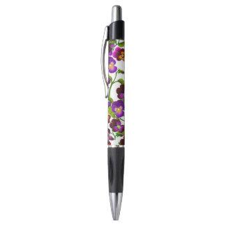 Bolígrafo El pensamiento púrpura del jardín florece la pluma