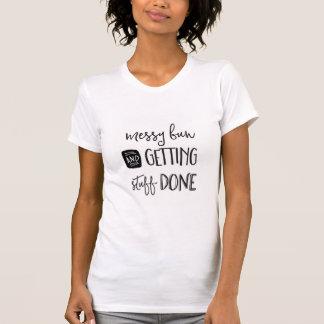 Bollo sucio y conseguir la camiseta gráfica hecha