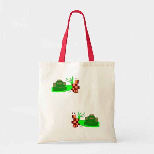 bolsa con dos caracoles verdes