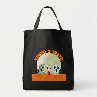 Bolsa con monstruos de Halloween en español
