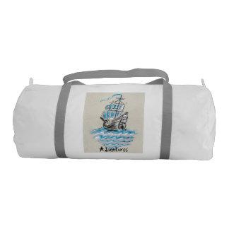Bolsa De Deporte A través del mar, bolso del gimnasio de la lona,