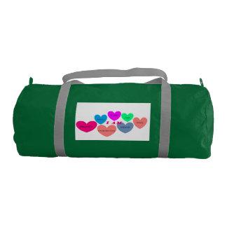 Bolsa De Deporte bolso del gimnasio con diseño colorido del corazón
