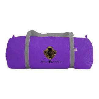 Bolsa De Deporte Bolso del gimnasio de la lona, púrpura con las