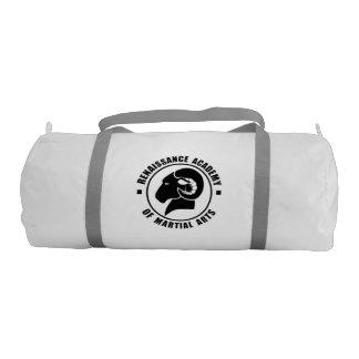 Bolsa De Deporte Bolso del gimnasio de RAM, logotipo negro sólido