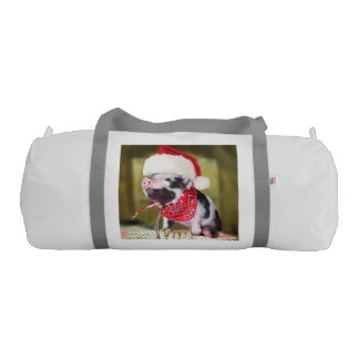 Bolsa De Deporte Cerdo Papá Noel - cerdo del navidad - cochinillo
