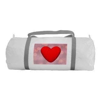 Bolsa De Deporte Corazón rojo - 3D rinden
