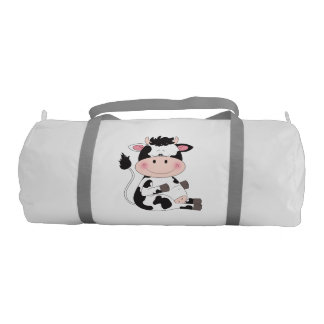 Bolsa De Deporte Dibujo animado lindo de la vaca del bebé