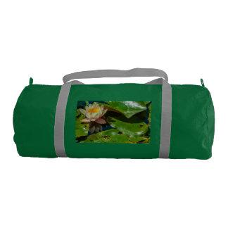 Bolsa De Deporte florido waterlily en bolso esmeralda del gimnasio