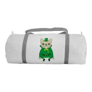 Bolsa De Deporte Frenchie lindo afortunado el el día de St Patrick