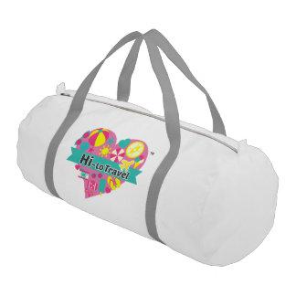 Bolsa De Deporte Hola-Lo bolso del gimnasio del viaje - blanco como