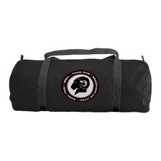 Bolsa De Deporte Logotipo del bolso del gimnasio de RAM, negro y