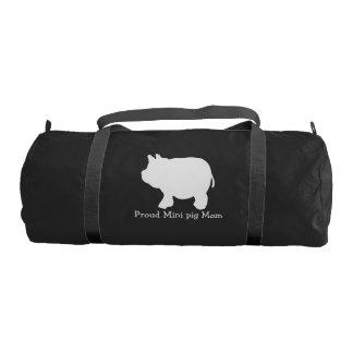 Bolsa De Deporte Mini mamá orgullosa del cerdo con el mini cerdo