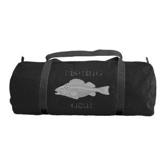 Bolsa De Deporte Pescados del gris de las artes de pesca