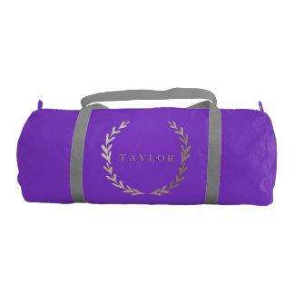 Bolsa De Deporte Petate púrpura del gimnasio de la impresión del