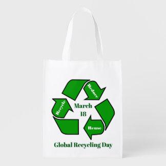Bolsa De La Compra 18 de marzo, diseño de reciclaje global del día