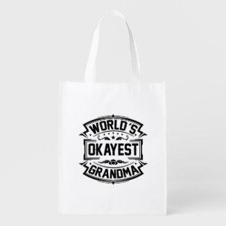 Bolsa De La Compra Abuela de Okayest del mundo