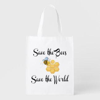 Bolsa De La Compra Ahorre las abejas ahorran el mundo