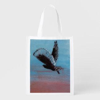 Bolsa De La Compra Arte del pájaro de la salida del sol del búho