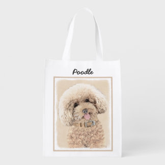 Bolsa De La Compra Arte original de pintura del perro del caniche