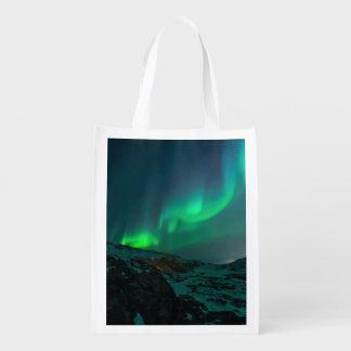 Bolsa De La Compra Aurora boreal verde