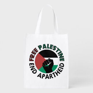 Bolsa De La Compra Bandera libre de Palestina del apartheid del final