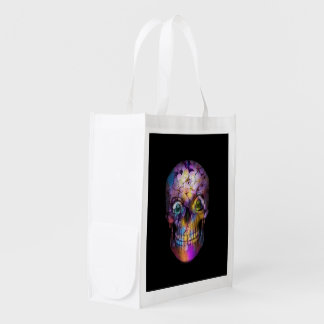 Bolsa De La Compra Cráneo floral asombroso A