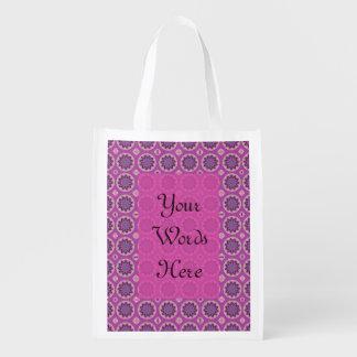 Bolsa De La Compra Estampado de flores rosado bonito