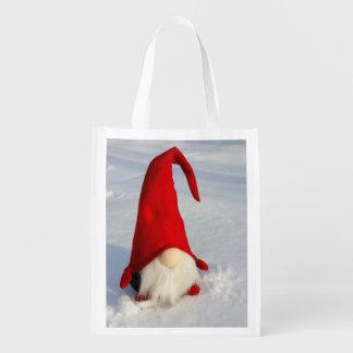 Bolsa De La Compra Gnomo escandinavo del navidad