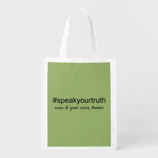 Bolsa De La Compra Hable su verdad