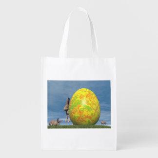 Bolsa De La Compra Huevo y liebres de Pascua - 3D rinden