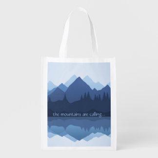 Bolsa De La Compra Las montañas están llamando… diseño tote