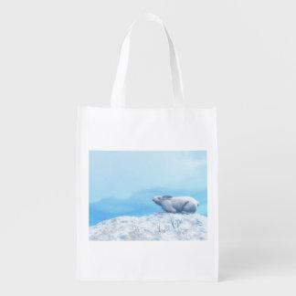 Bolsa De La Compra Liebres árticas, lepus arcticus, o conejo polar