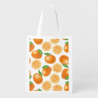 Bolsa De La Compra Mandarinas de la acuarela