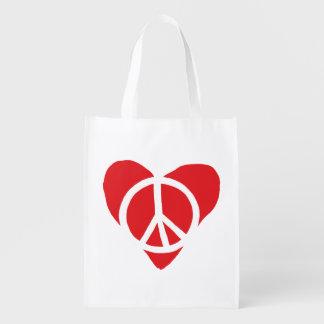 Bolsa De La Compra Paz y amor