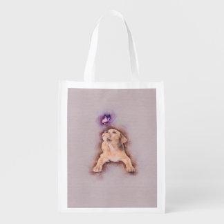 Bolsa De La Compra Perrito del terrier de Staffordshire con la