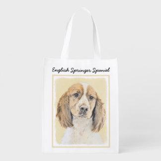 Bolsa De La Compra Perro de aguas de saltador inglés que pinta arte
