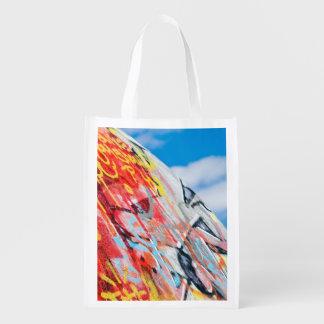 Bolsa De La Compra pintada del planeta