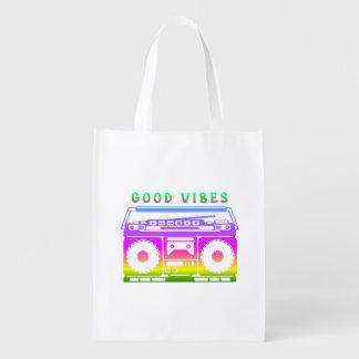 Bolsa De La Compra Plantilla estérea colorida de la buena sensación