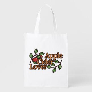 Bolsa De La Compra Reutilizable Amante de la sidra de Apple