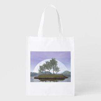 Bolsa De La Compra Reutilizable Árbol con hojas liso de los bonsais del olmo - 3D