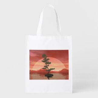 Bolsa De La Compra Reutilizable Árbol de los bonsais del pino escocés - 3D rinden