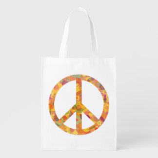 Bolsa De La Compra Reutilizable Belleza de la paz