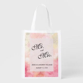 Bolsa De La Compra Reutilizable Boda soñador romántico del flor