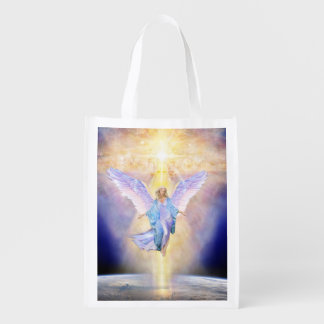 Bolsa De La Compra Reutilizable Cielo V056 y ángel de la tierra