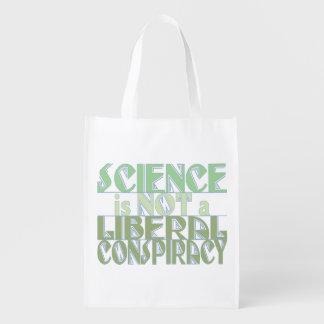 Bolsa De La Compra Reutilizable Conspiración verde del liberal de la ciencia