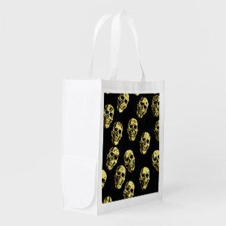 Bolsa De La Compra Reutilizable Cráneos calientes, cáscara de huevo