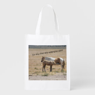 Bolsa De La Compra Reutilizable Cuidado de los caballos salvajes